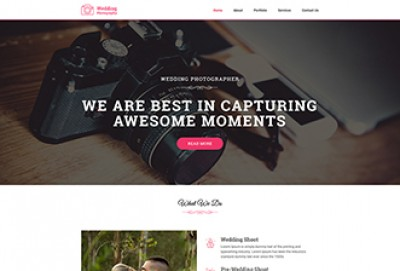 Wedding Photography HTML Website Template