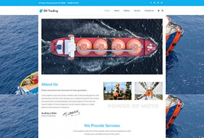 Gas Oil Trading WordPress Theme