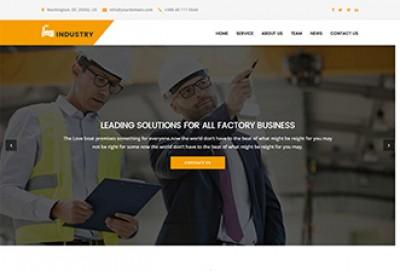 Industrial Business HTML Website Template