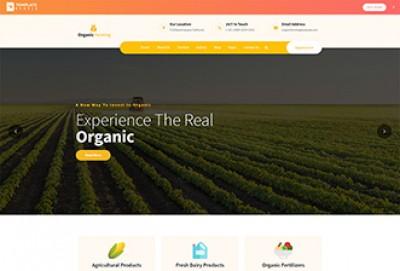 Organic Farming HTML Website Template
