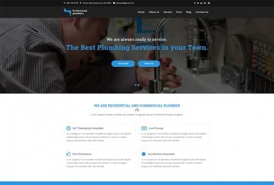 Plumber HTML Website Template