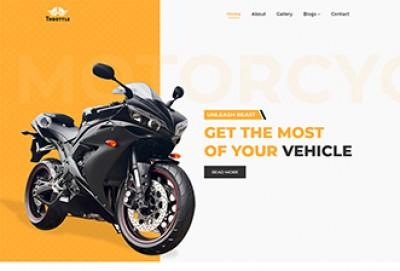 Motorcycle Shop HTML Website Template