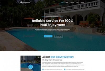 Pool Construction WordPress Theme