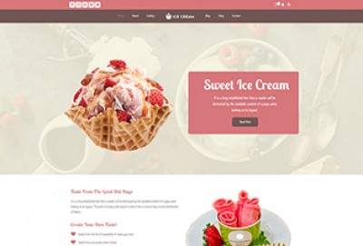 Ice Cream Shop, Parlour WordPress Theme