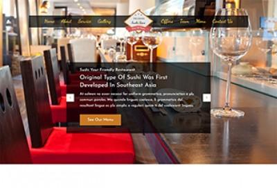 Sushi Bar HTML Website Template