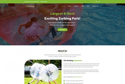 Zorbing WordPress Theme
