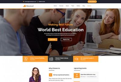single page educational wordpress theme