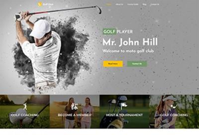 Sport & Golf Club WordPress Theme