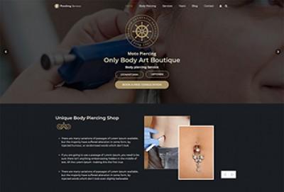 Body Piercing WordPress Theme