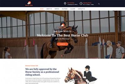 Horse Club HTML Website Template