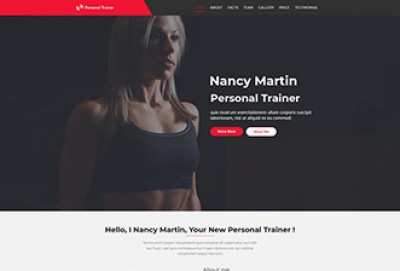 Fitness Coach and Personal Trainer WordPress Theme