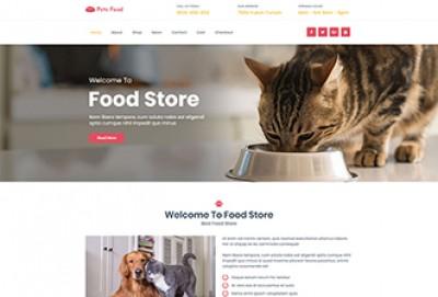 Pets Food Store WordPress Theme