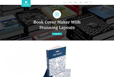 Cover Page Making WordPress Theme