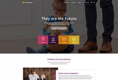 Orphanage Home, Child Care & Adoption WordPress Theme
