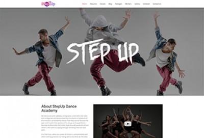 Dance Studio HTML Website Template