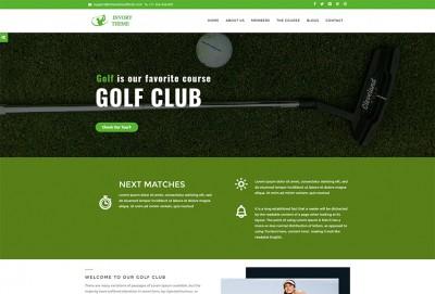 Golf Club And Sports Club WordPress Theme