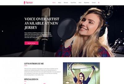 Voice Over Artists WordPress Theme
