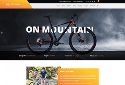 Bike Shop WordPress Theme