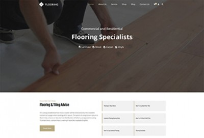 Flooring, Paving and Tiling Services WordPress Theme