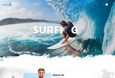 Surfing HTML Website Template