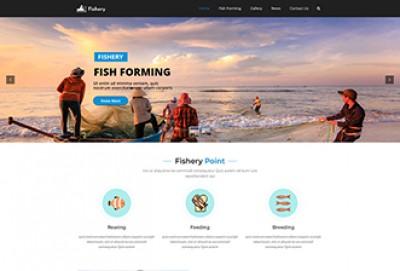Fish Farming WordPress Theme