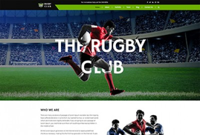 Rugby Club HTML Website Template