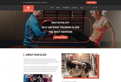 Martial Arts WordPress Theme | Self Defense Instructor WordPress Theme