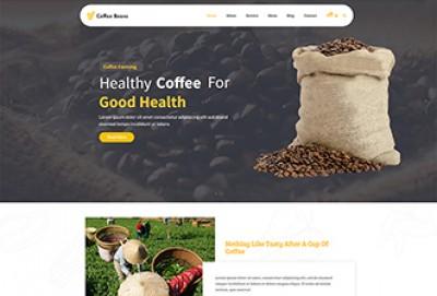 Coffee Beans & Coffee Farming WordPress Theme