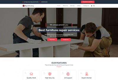 Furniture Refinishing WordPress Theme | Furniture Restoration Themes