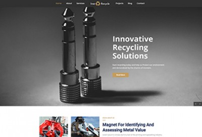 Iron Recycling WordPress Theme