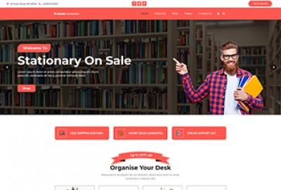 Online Stationery WordPress Theme