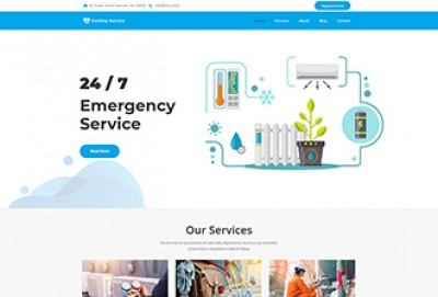 Air conditioning & Cooling Service WordPress Theme
