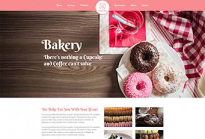 Cake Bakery Shop HTML Website Template