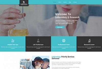 Laboratory & Research WordPress Theme