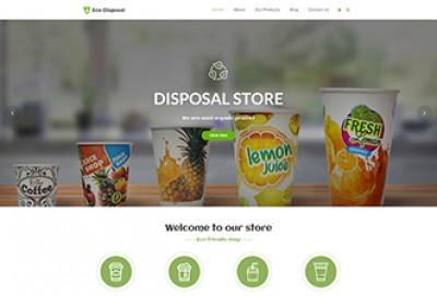 Eco Disposable Store WordPress Theme
