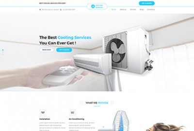 Cooling Services HTML Website Template