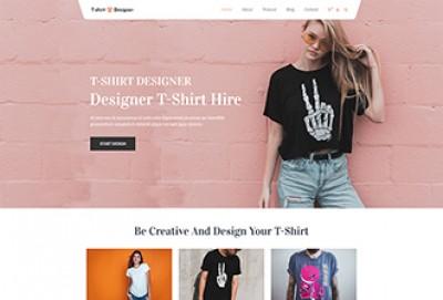 T-Shirt Designer WordPress Theme | T shirt Printing Store Themes