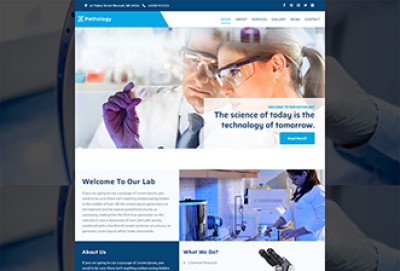 Pathology and Diagnostic WordPress Theme