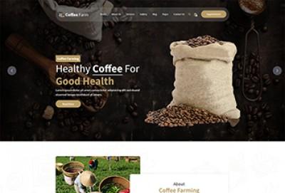 Coffee Farm HTML Website Template