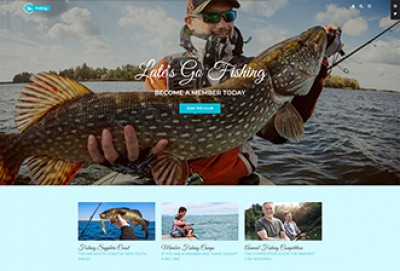 Fishing And Hunting Club WordPress Theme