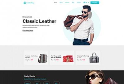 Leather Bag Making WordPress Theme