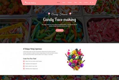 Candy Shop WordPress Theme   Sweet Store WP Themes