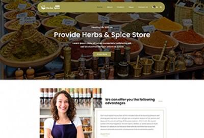 Herbal Store WordPress Theme | Spice Shop WordPress theme