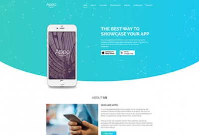 Mobile App Landing page HTML Website Template