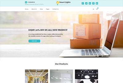 Lighting Store HTML Website Template