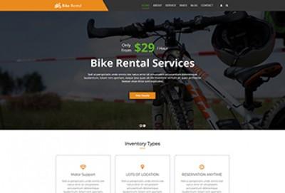 Bike Rental Services WordPress Theme