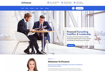 Finance and taxation HTML Website Template