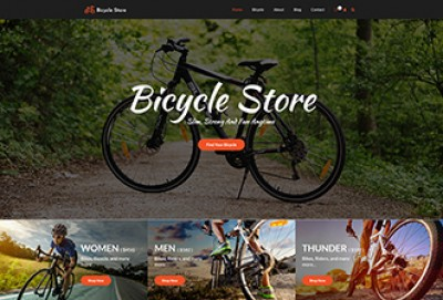 Bicycle Store WordPress Theme