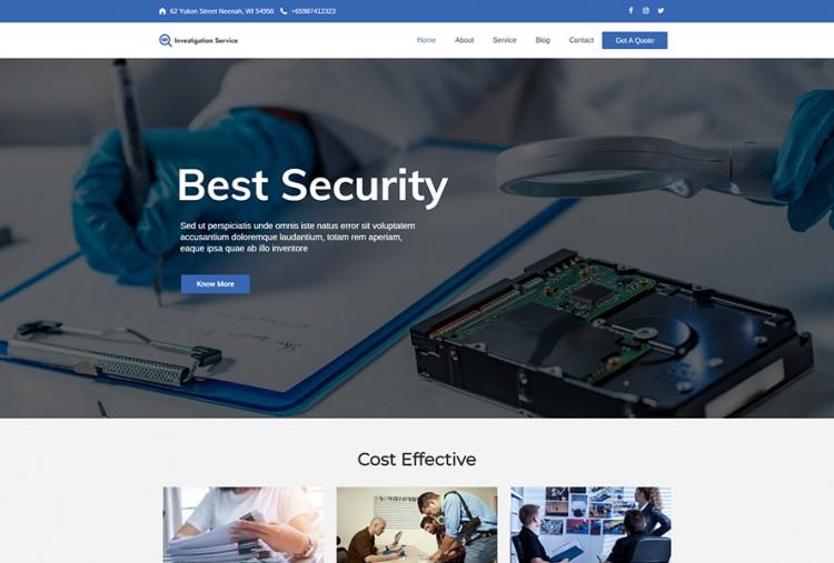 Private Investigation WordPress Theme