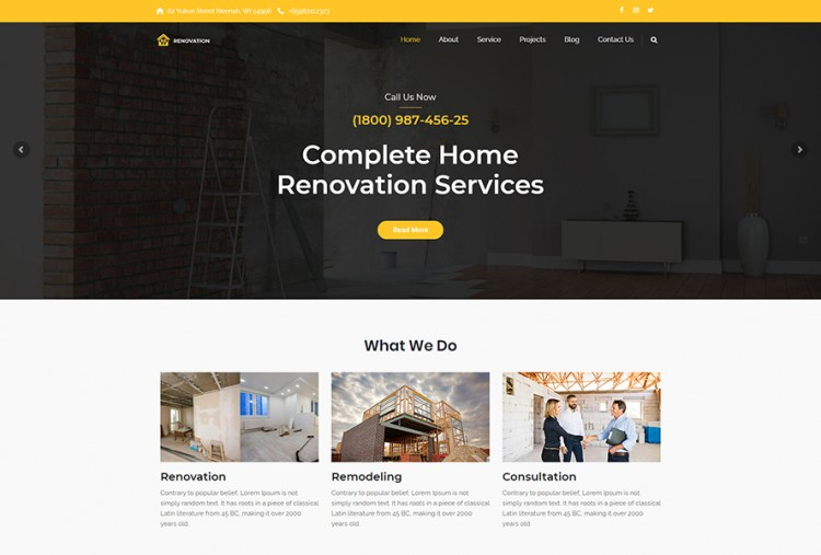 Renovation- Construction WordPress Theme